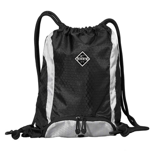 Crest Diamond Drawstring Backpack