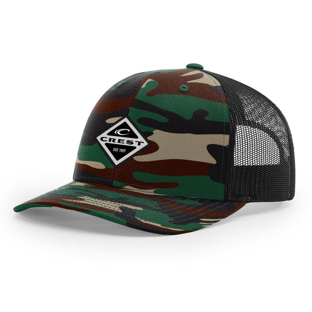 Crest Diamond Snapback Hat