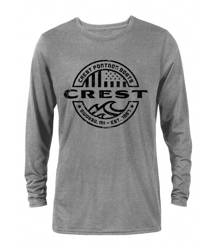Crest American Circle Wave Men's Long Sleeve T-Shirt