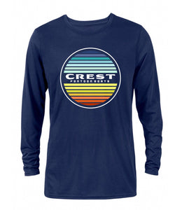 Crest Color Circle Men's Long Sleeve Tee