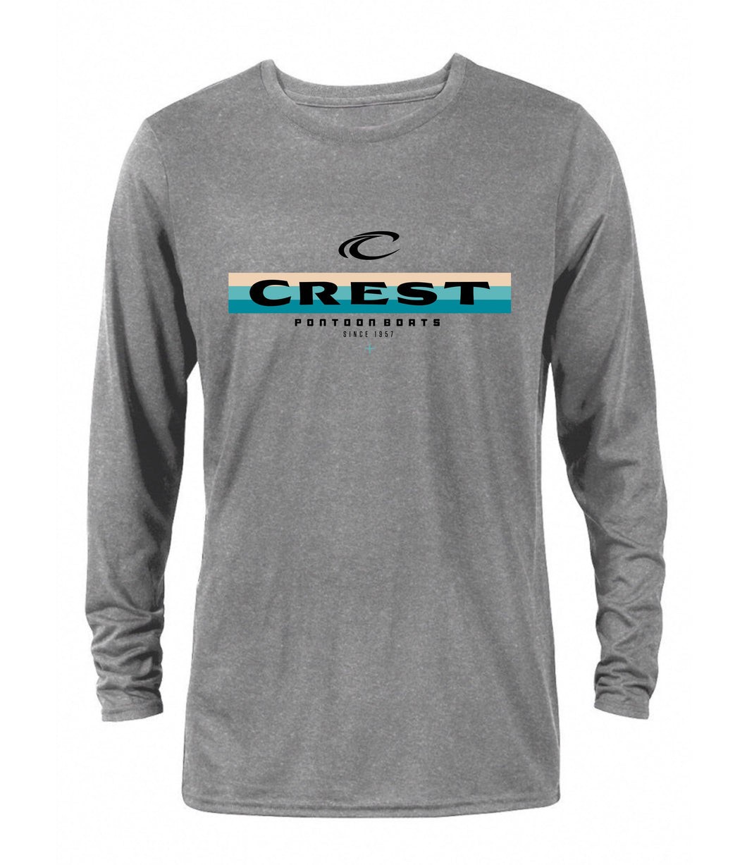 Crest Color Lines Men's Long Sleeve Tee