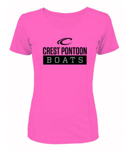 Crest Stacked Logo Women's Performance Tee