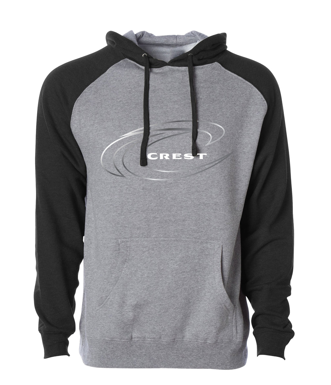 Crest Wave Outline Logo Men's Hoodie