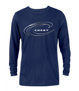 Crest Wave Outline Logo Men's Long Sleeve Tee