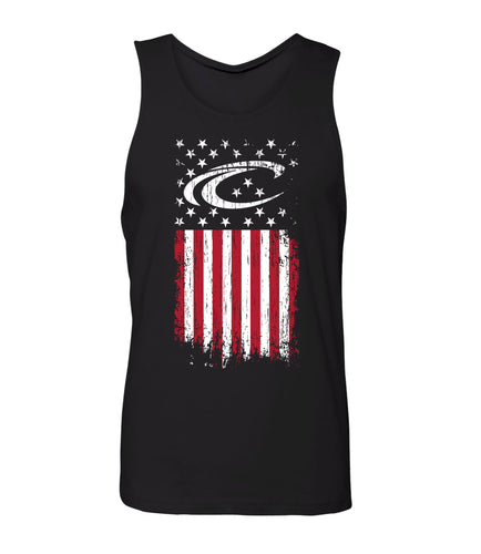 Crest Distressed Flag Men's Tank
