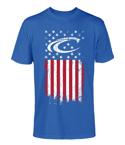 Crest Distressed Flag Unisex Tee