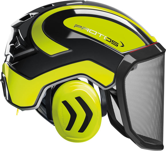 Casco Protos Integral Forest Nero-Giallo