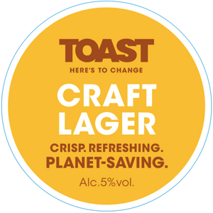 Toast Ale Refillable Growler - CRAFT LAGER  (3.5 pints)