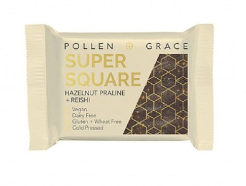 Pollen And Grace -  Hazelnut Praline + Reishi Super Squares 3 for £4 ( introductory Offer )