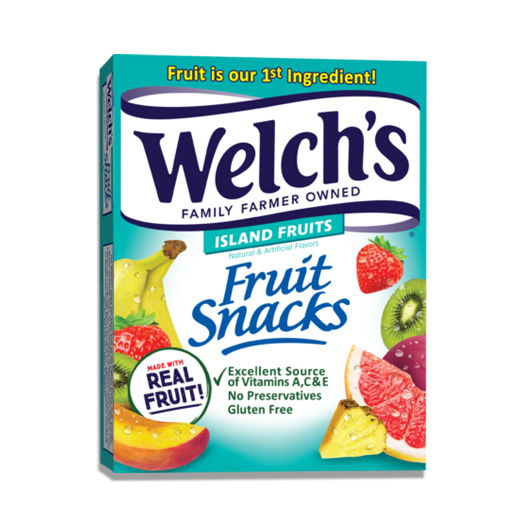 Welch's Fruit Snacks Island Fruits, 10 Count 0.9 oz Pouches