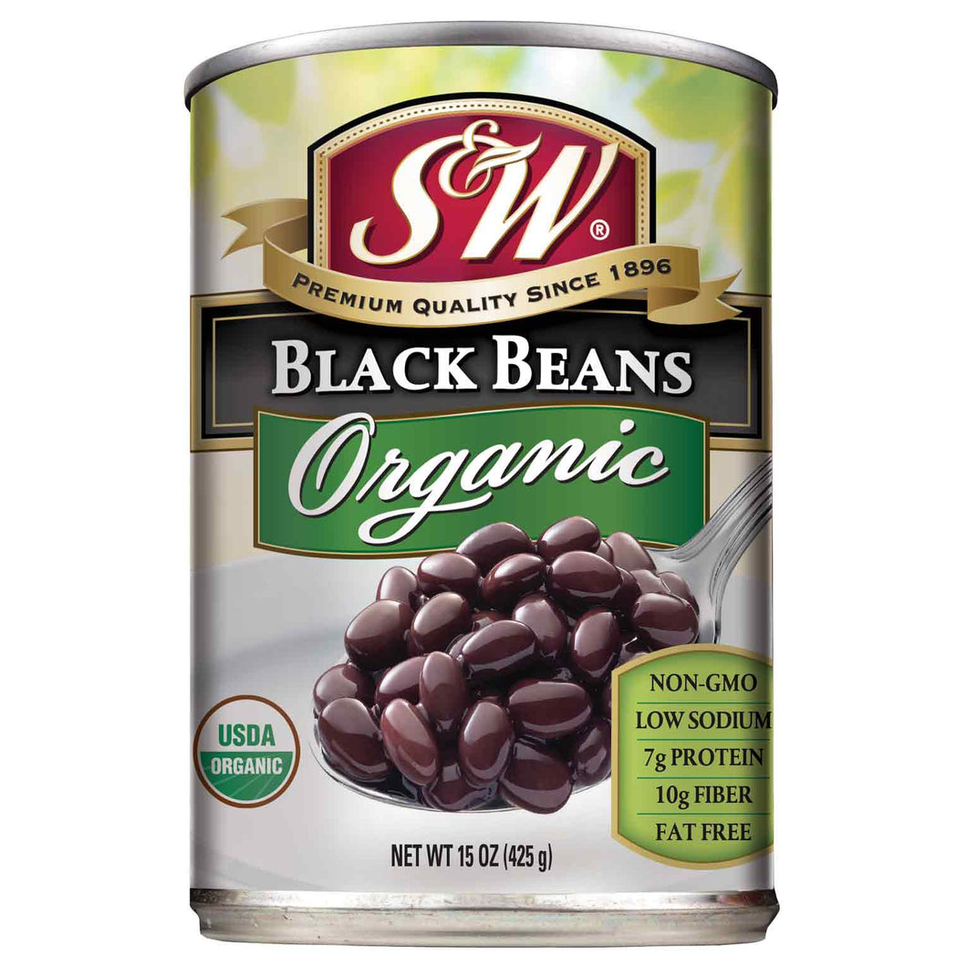 S&W Organic Black Beans (15 oz. Can)