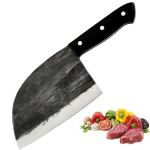 Promithi Knife Handmade Forged Chef Chopper Blade, Household Professional Knife for Camping Hiking Outdoor Kitchen
