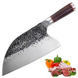 Promithi Top Forge Hammer Pattern Chopping Knife Chef Knives Home Kitchen Knife Steak Knives, Professional for Chef's Kitchen Knives