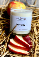 Natural Soy Wax Glass Jar Candle | hayride Scent