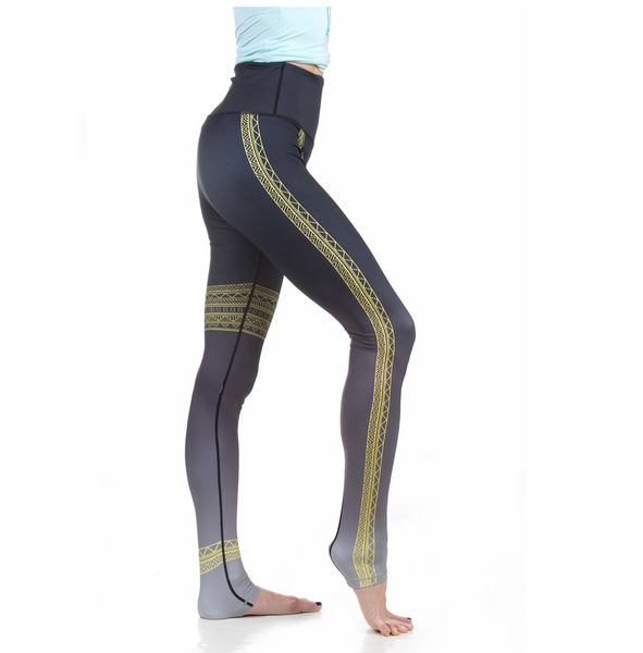 Solar Yoga Pant | One Whirl Yoga Featuring Markings For Hand + Foot Placement