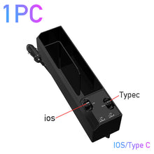 Load image into Gallery viewer, Car Organizer with Charger Cable Car Seat Gap Storage Box with Cable
