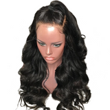 Natural Hairline Best Virgin Natual Black Hair Body Wave Front Lace Wig