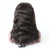 75% Off Best Virgin Natual Black Hair Body Wave Front Lace Wig