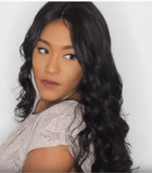 Gorgeous Virgin Natural Black Hair Body Wave Full Lace Wig