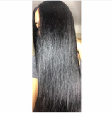 Natural Hairline Best Brazilian Virgin Straight Hair Lace Front Wig