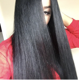 Natural Hairline Super Virgin Black Hair Straight Full Lace Wig