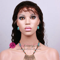 75% Off Dark Brown #2 Deep Wave Virgin Hair Front Lace Wig