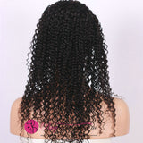 70% Off Best Virgin Remy Jet Black Jerry Curl Full Lace Wig