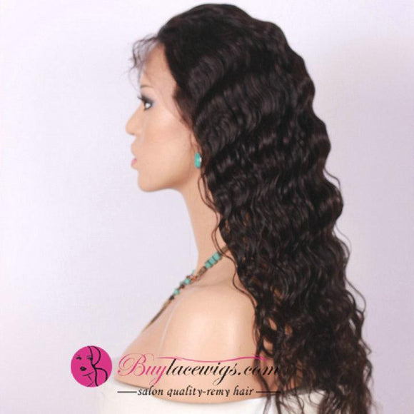 Buy Lace Wigs Best Virgin Hair Deep Wave 360 Lace Wig