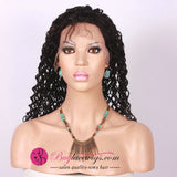 Pre Bleached Knots Jerry Curl Best Virgin Jet Black Hair 360 Lace Wig