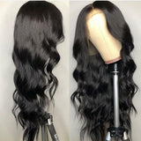 Pre Bleached Knots Best Natural Virgin Human Hair Body Wave Front Lace Wig