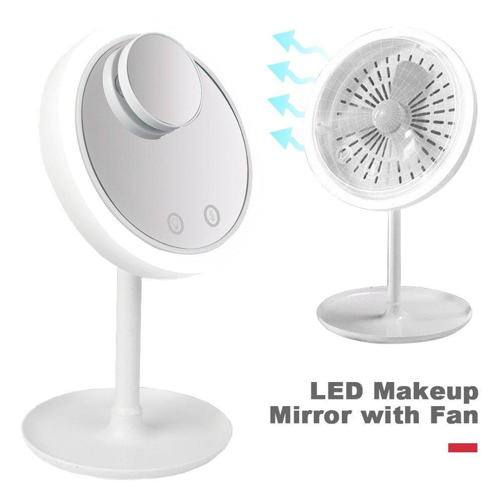 LED VANITY MIRROR WITH FAN
