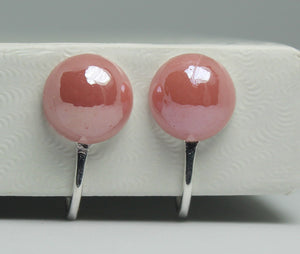 Pink Clip-On Stud Earrings