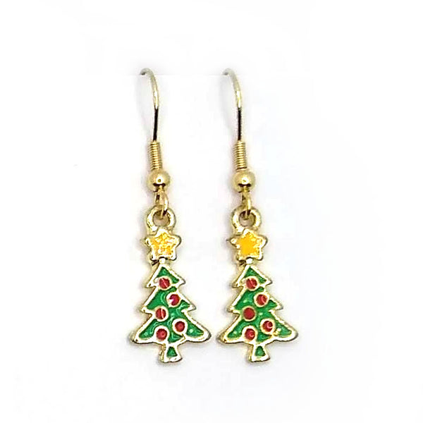 Gold Santa Earrings