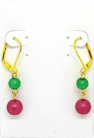 Red, Gold, and Green Christmas Earrings