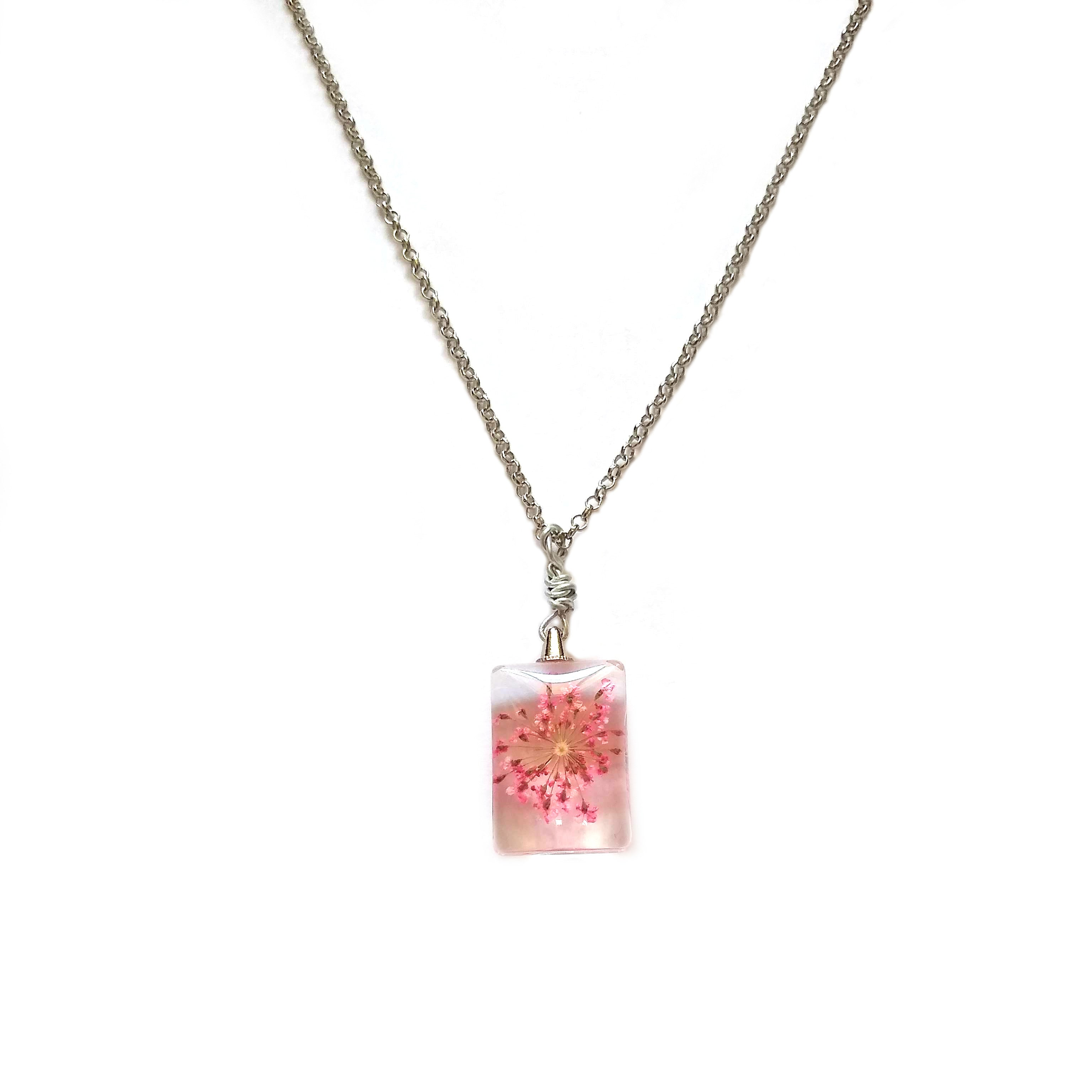 Fuchsia Floral Necklace