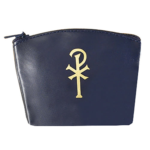 Navy Chi Rho Rosary Case