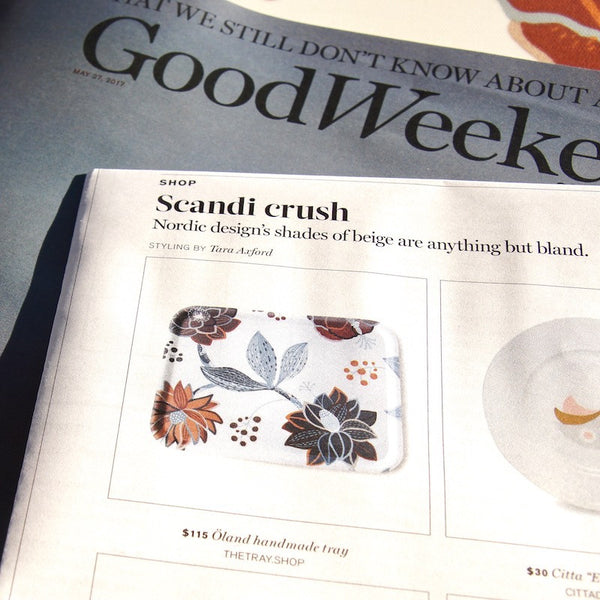 THETRAY.SHOP IN THE GOOD WEEKEND MAG