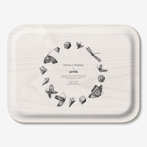 Lost World Rectangular Tray - Red