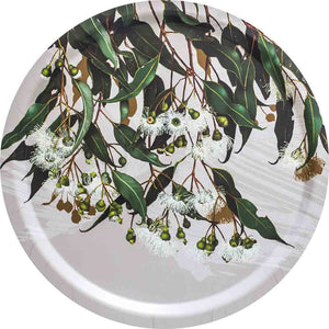 Serving tray with Marri Gum Common Beauty pattern by Bell Art