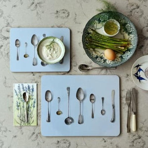Cutlery Placemat - Blue