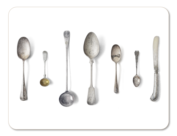 CUTLERY, WHITE - PLACEMAT