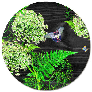 Dill Round Placemat - Black