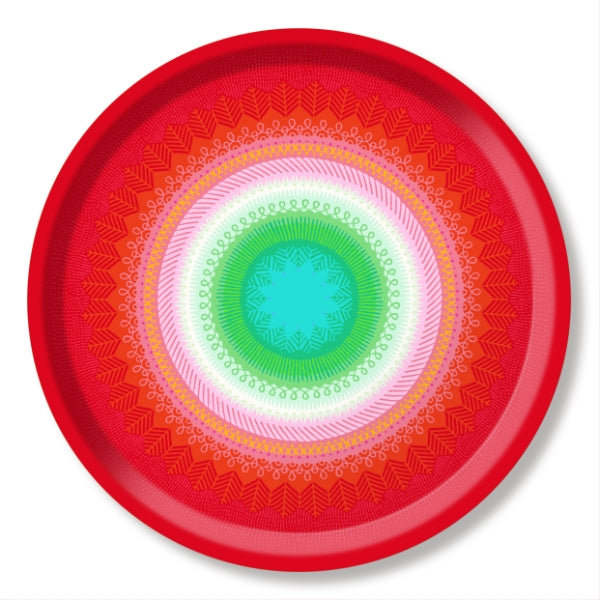 FIESTA, RED - TRAY ROUND