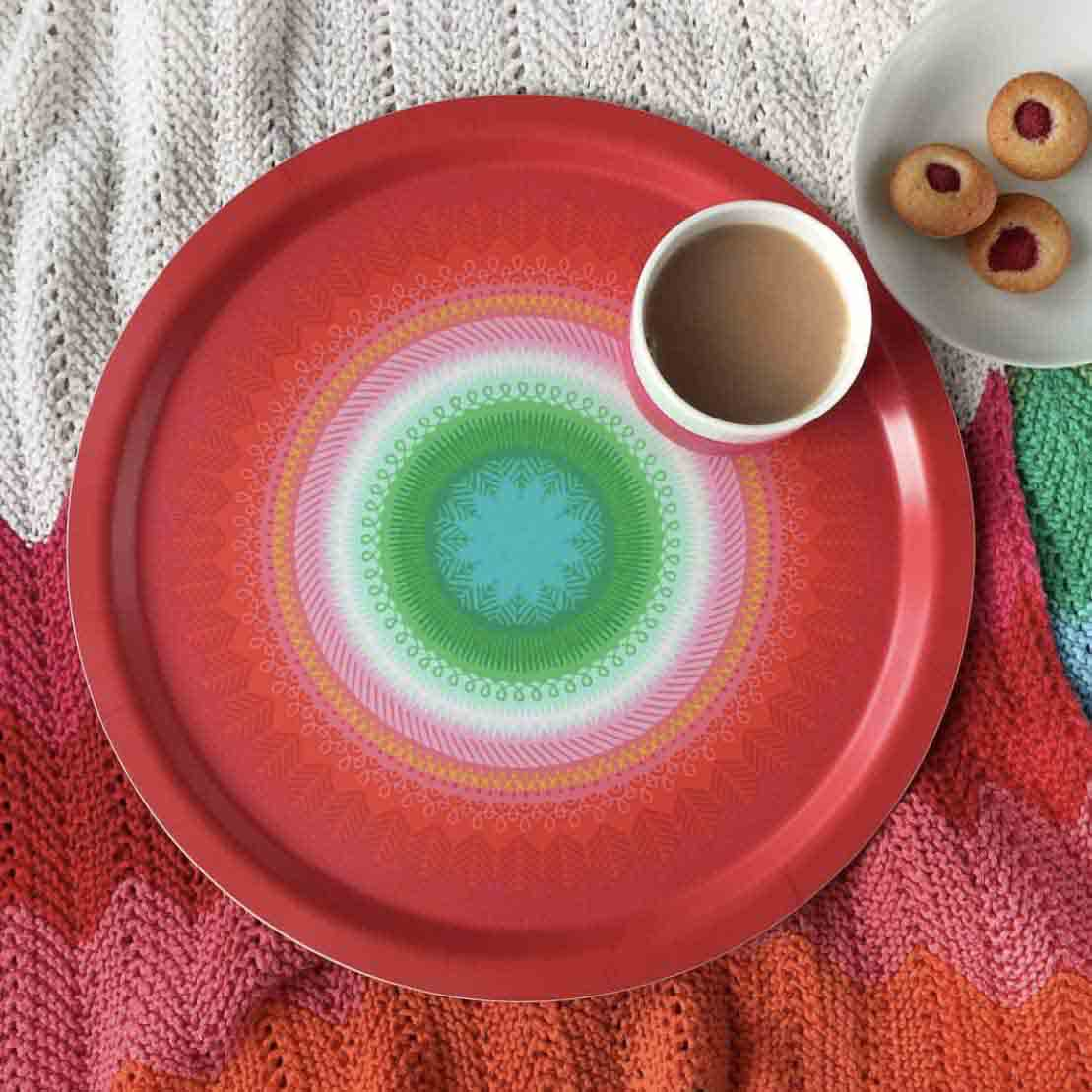 Fiesta Red Tray by Asta Barrington