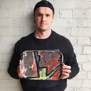Graffiti birchwood tray