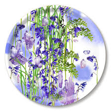 Tray with bluebells by Michael Angove