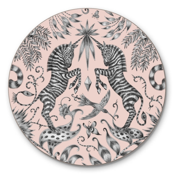 Green coasters featuring giraffes designed by Emma J Shipley