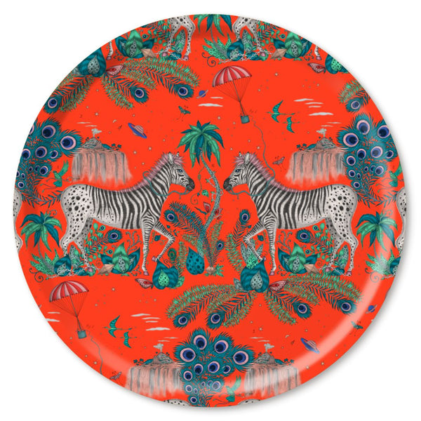LOST WORLD, RED - TRAY ROUND