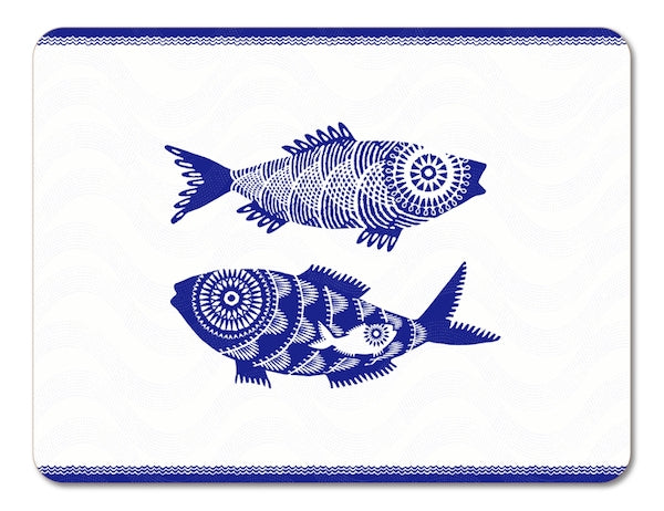 Shoal of Fish Placemat - White