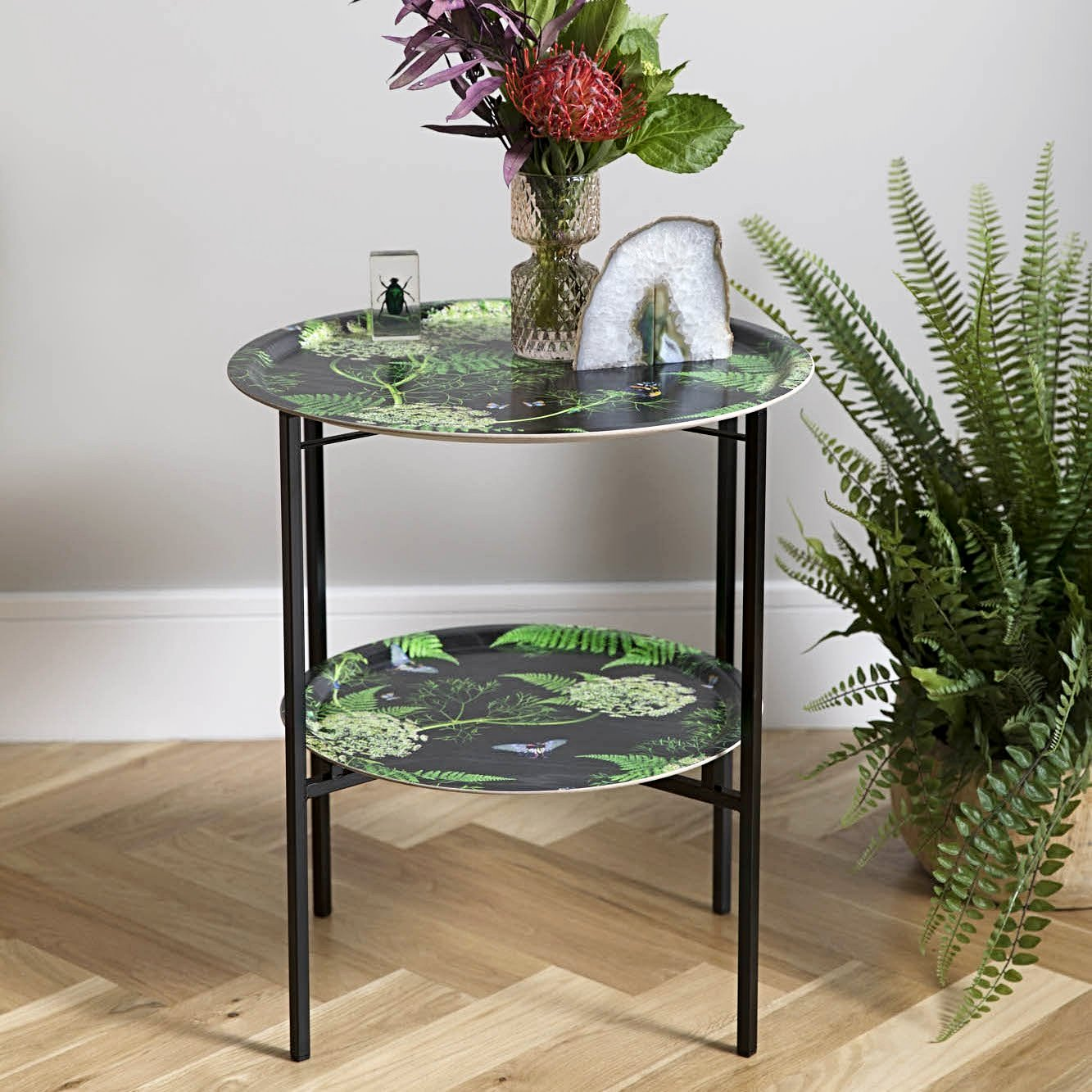 Black and green folding coffee table by Michael Angove